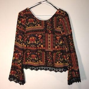 H&M Warm Cut Out blouse